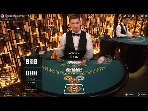 Roulette Blackjack With Big Bets On Three Card Poker