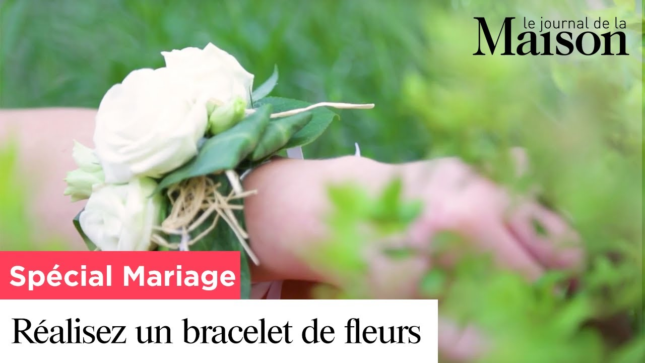 sp cial mariage r alisez un bracelet de fleurs youtube. Black Bedroom Furniture Sets. Home Design Ideas