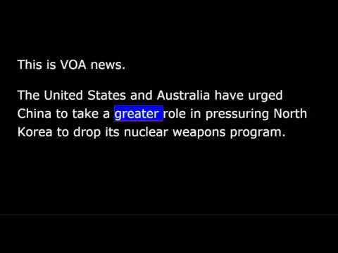 VOA news for Sunday, April 23rd, 2017