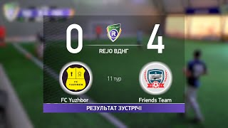Обзор матча FC Yuzhbor 0 4 Friends Team Турнир по мини футболу в городе Киев