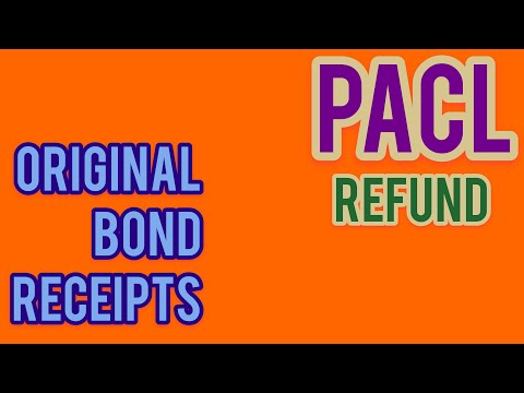PACL REFUND for Holders of original Bond and receipts of payment.PACL Latest news,PACL Refund news