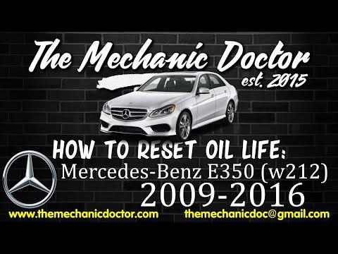 How to Reset Oil Life: Mercedes-Benz E350 (W212) 2009-2016 : 9 Steps