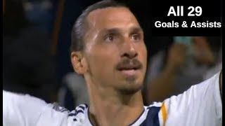 Zlatan Ibrahimovic All 29 Goals & Assists for LA Galaxy in 2018