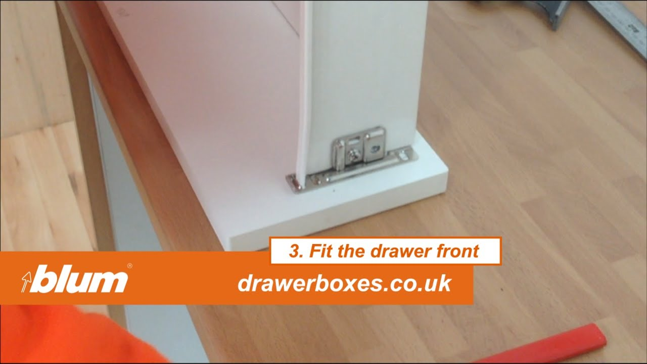 Blum Metabox Shallow Replacement Kitchen Drawer Box 3 Of 3 Fit The Drawer Front Youtube