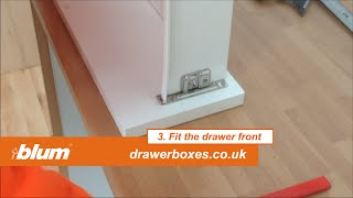 blum Metabox - shallow replacement kitchen drawer box - 2 of 3   Fit the drawer runners