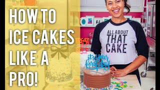How To Fill, Crumb-Coat and Ice Cakes with Buttercream LIKE A PRO!