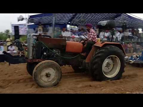 HMT 5911 Tractor Performance With Harrow In Simbal Jhalian Competition