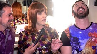 Coco Peru Backstage at the Drag Queens of Comedy
