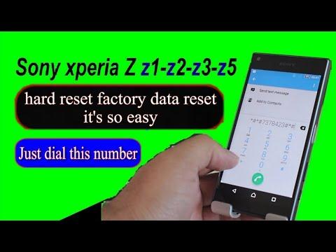 Sony xperia Z Z1 Z2 Z3 Z5 factory data reset hard reset