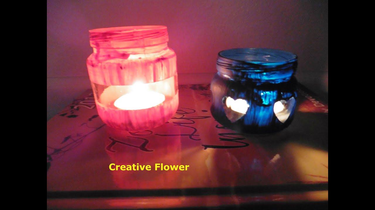 Frascos para velas recicla creative flower youtube - Botellas con velas ...