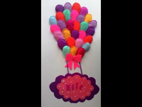 Keçeden balon kapı süsü nasıl yapılır
