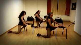 Стрип пластика танец со стулом для начинающих.