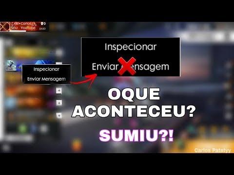 OQUE ACONTECEU COM O CHAT DE ENVIAR MENSAGENS DO FREE FIRE