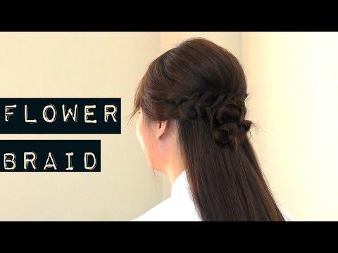 How to : ทรงผม 'เปียดอกไม้ครึ่งหัว' ถักเปียแบบสาวหวาน ♥