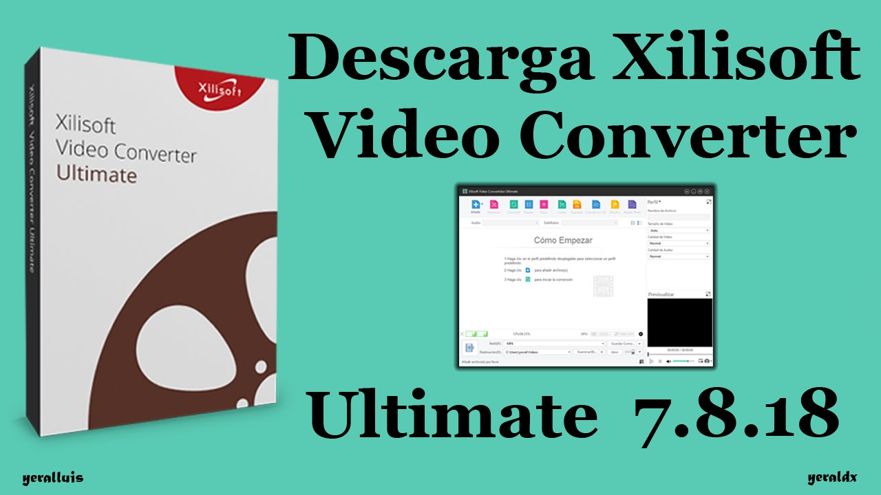 Descarga E Instala Xilisoft Video Converter Ultimate V7 8 18 Build