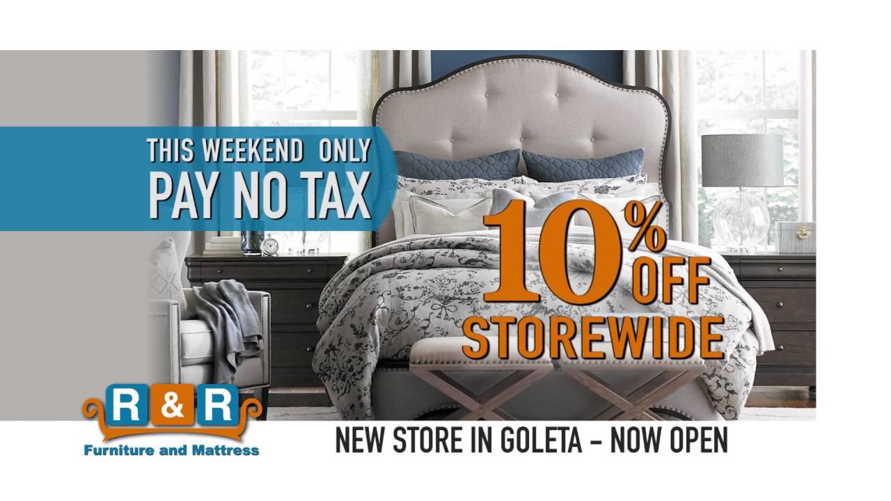 20160415 R U0026 R Furniture Goleta No Tax Weekend V1