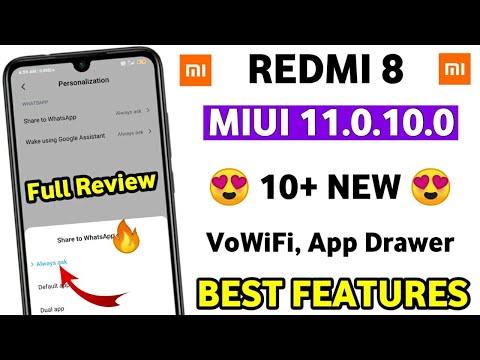 REDMI 8 MIUI 11.0.10.0 New Features | MIUI 11.0.10.0 New Features | Redmi 8 New Update
