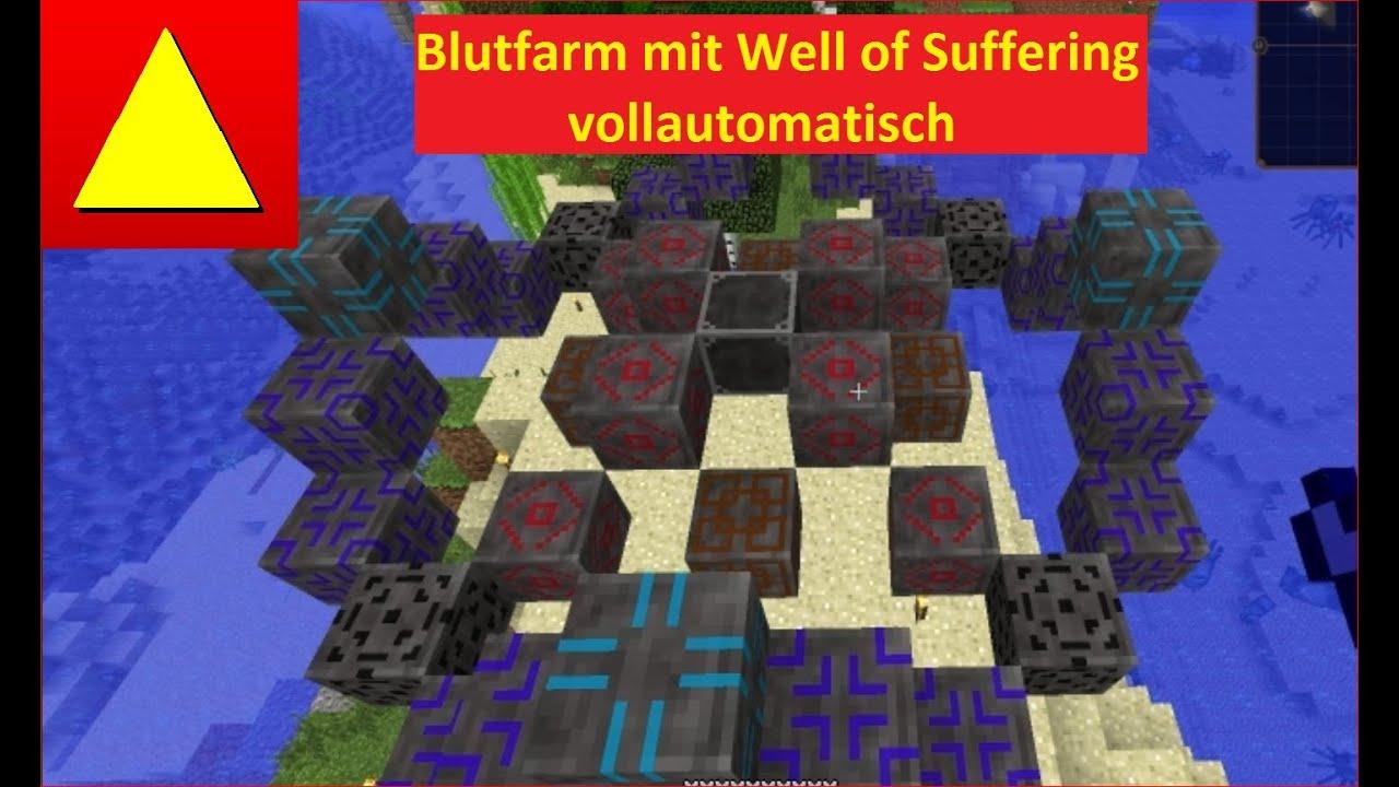 Block Light Vollautomatische Blutfarm mit Well of Suffering Blood Magic  Grundlagen Tutorial