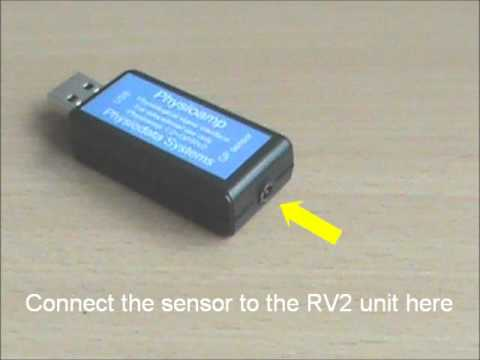 Breathing sensor set-up for the RV2 biofeedback device