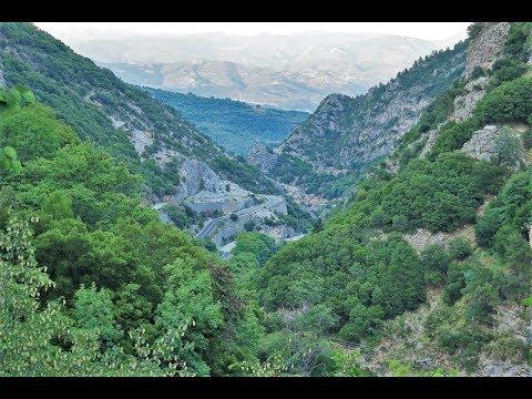 Road Sparta – Kalamata Peloponnese Greece