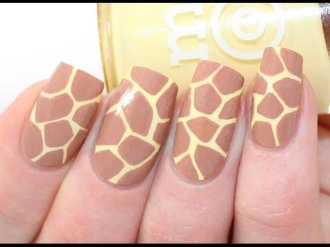 Giraffe Print Nail Art Tutorial