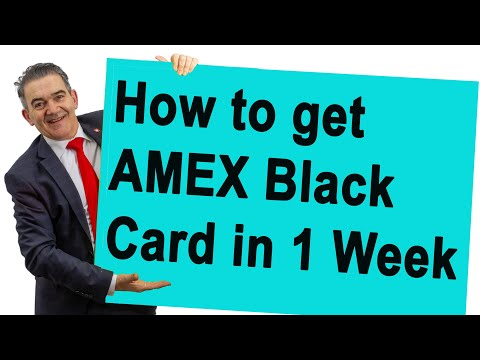 How To Get American Express Centurion Card (in 1 Week)
