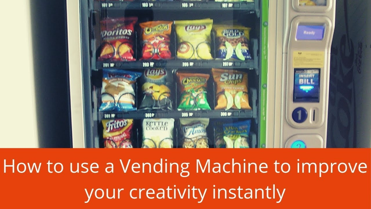 Use a vending machine to improve your creativity - YouTube