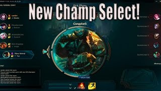 New Champion Select + Ranked Teambuilder - Pre Season 6 Changes - League of Legends