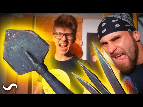 MAKING A SPETZNAZ THROWING SHOVEL!!!