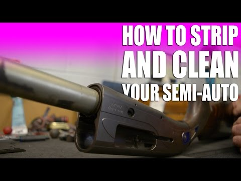 How to strip and clean a Beretta semi-auto