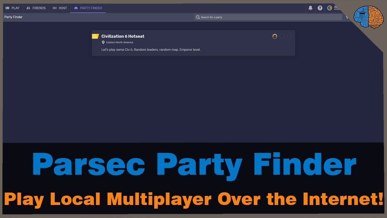 How to Play Local Multiplayer Games Over the Internet using Parsec's Party  Finder!