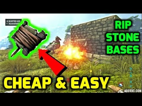Ark: BEST METHOD FOR RAIDING STONE BASES IN EARLY GAME - Small Tribe Official PvP Servers