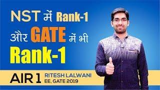 GATE 2019 Topper   Ritesh Lalwani (EE, AIR-1)   MADE EASY Student   Topper's Talk