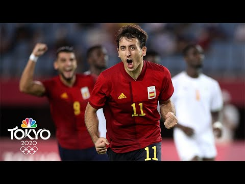 Download Spain equalizes at the death, wins roller-coaster quarterfinal   Tokyo Olympics   NBC Sports