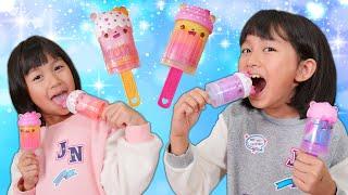 ナムノムズのアイススライム☆いつものスライムより固い!パパの海外おもちゃシリーズ☆himawari-CH
