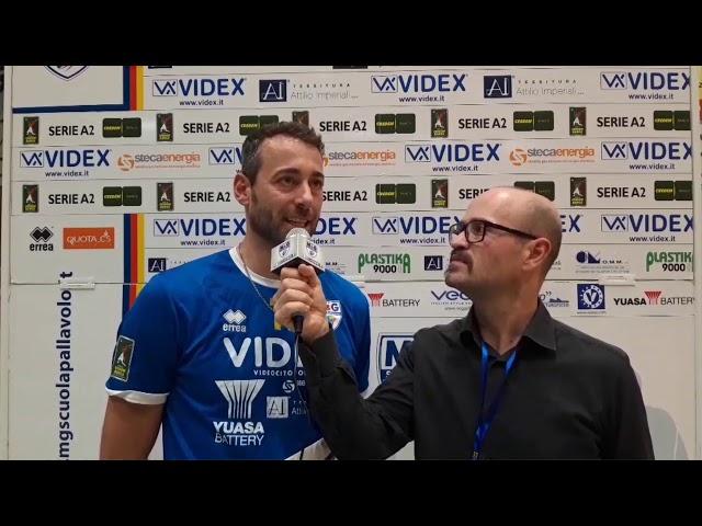 Massimo Gaspari commenta la partita contro Olimpia Bergamo