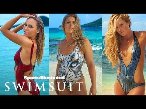 Ronda Rousey, Caroline Wozniacki & More In Nothing But Paint   On Set   Sports Illustrated Swimsuit