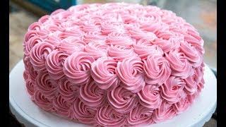 як зробити білкові трояндочки на торт