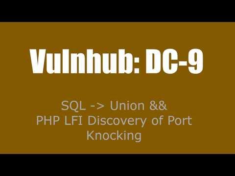VulnHub - DC-9