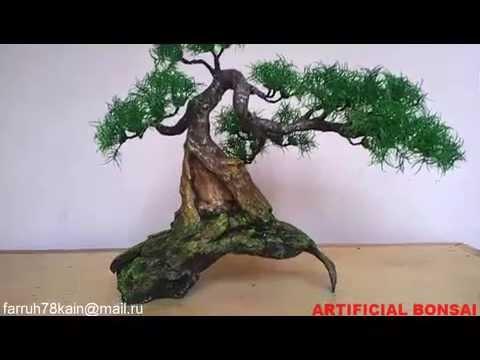 artificial bonsai tree 7 youtube. Black Bedroom Furniture Sets. Home Design Ideas