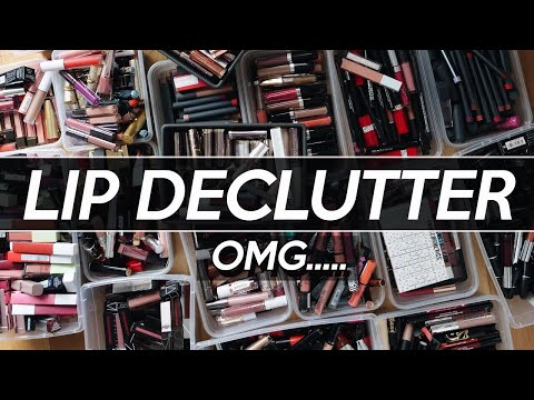 1000+ LIP PRODUCTS: What I'm THROWING out & KEEPING! | Jamie Paige