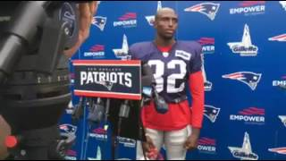 Devin McCourty Talks To The Media After Patriots Practice