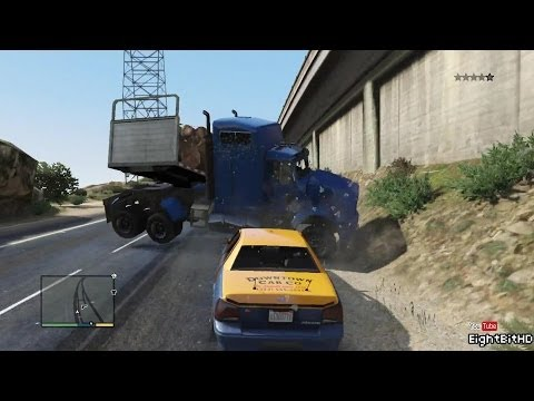 GTA 5 100 Tons Super Taxi Rampage #3 HD Grand Theft Auto 5