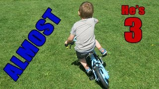 3yo Learning to Ride a Bike without Stabilizers