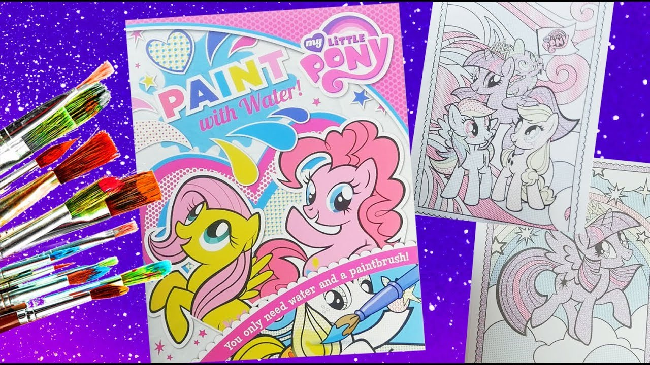 My little pony Activity book MLP \'Paint with water\' coloring for ...