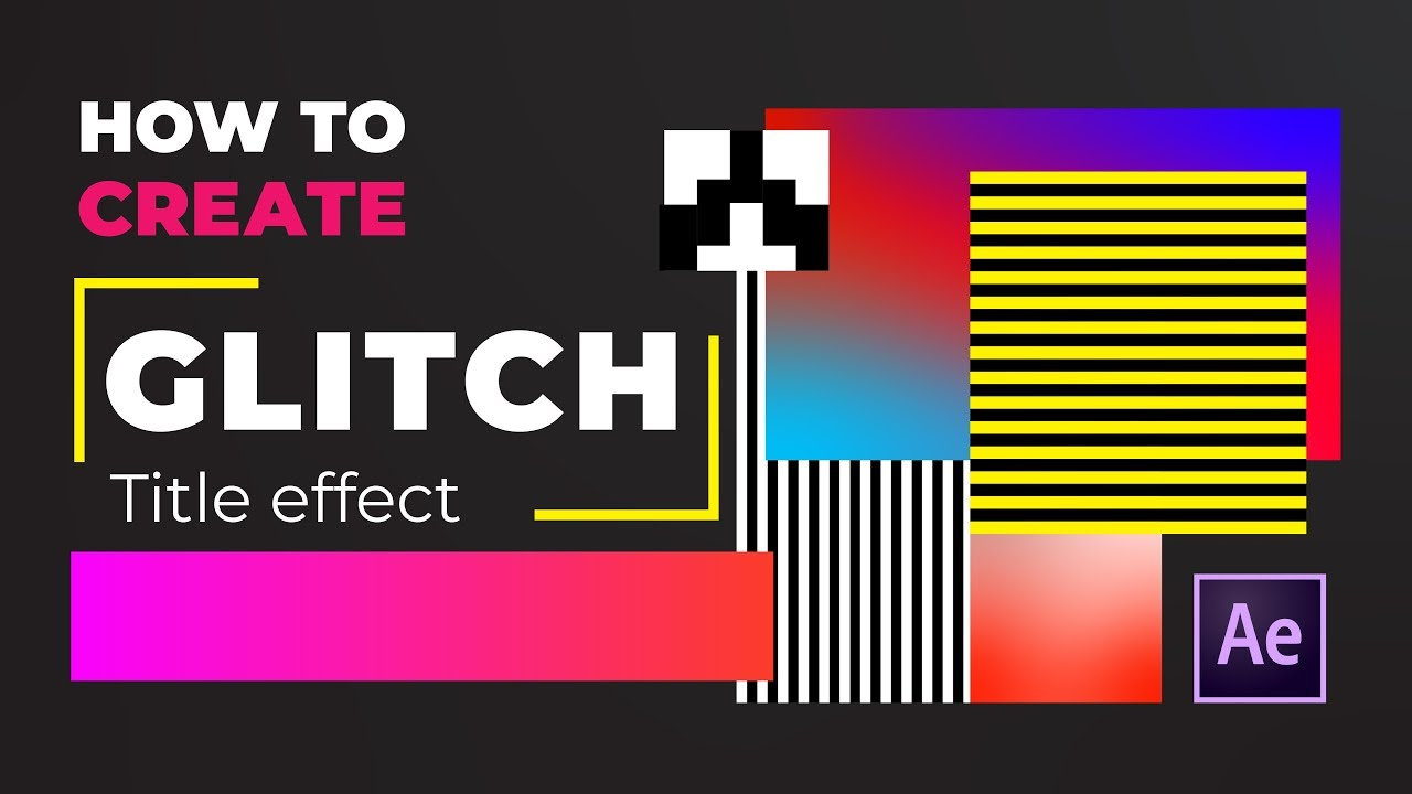 How to create Glitch Title Effect | After Effects Tutorial