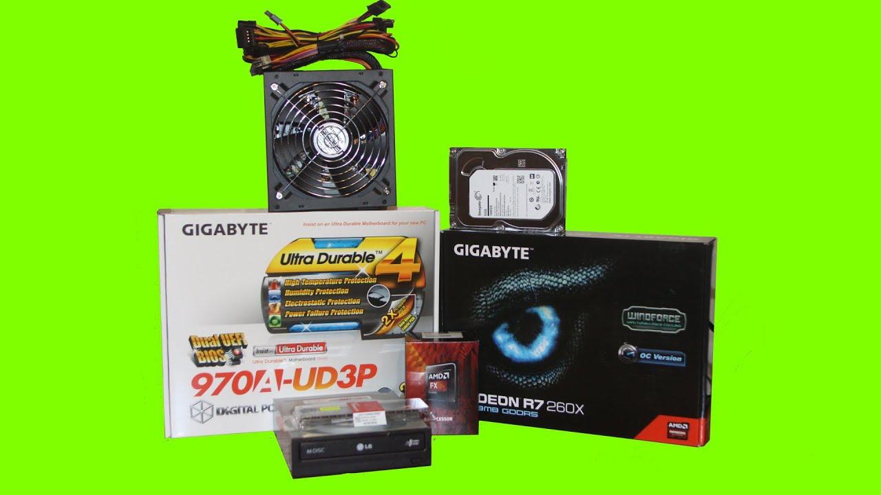 Gaming PC Build, FX-6300, R7 260X + benchmark (december 2014)