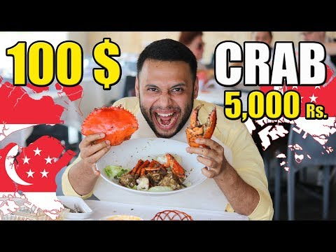 EATING A 100 $ DOLLAR BLACK PEPPER CRAB AT SINGAPORE