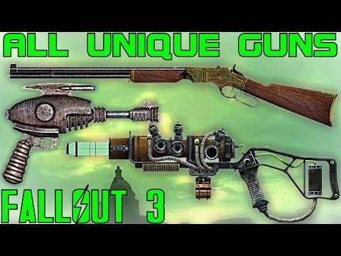 Fallout 3 All Unique Guns  Firearms Guide Vanilla