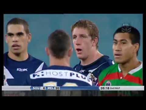 Jaiman Lowe vs Ryan Hoffman - Rabbitohs vs Storm FIGHT 2006